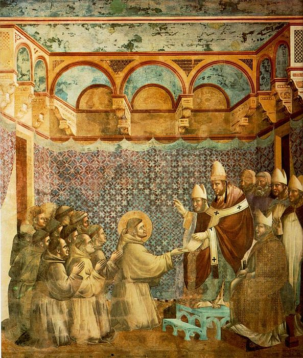 Giotto Legend of St Francis 07 Confirmation of the Rule